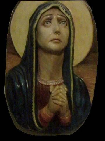 Photo de la peinture de la Vierge Marie.
