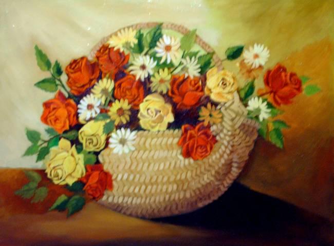 Photo du tableau réalisé par Mihail de Fleurs.