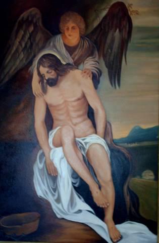 Photo du tableau réalisé par Mihail de Jesus-Christ.