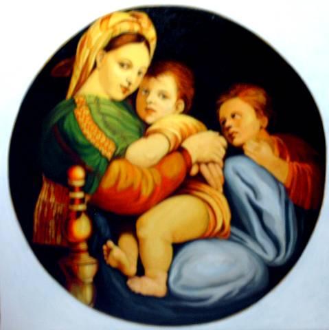 Photo du tableau réalisé par Mihail de Madonna Della Sedia.