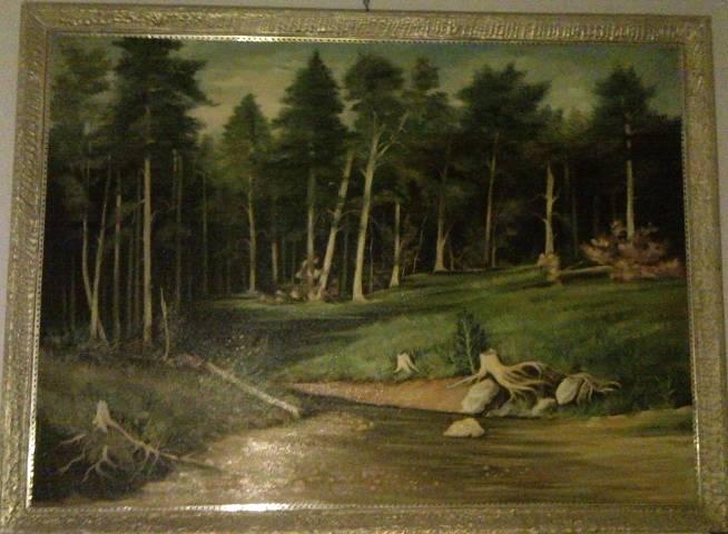 Photo du tableau réalisé par Mihail de Paysage.